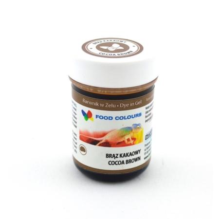 Barwnik spożywczy w żelu polskiej produkcji firmy FOODCOLOURS w kolorze brąz kakaowy