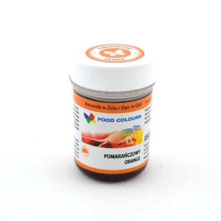 Barwnik spożywczy w żelu polskiej produkcji firmy FOODCOLOURS w kolorze pomarańczowym