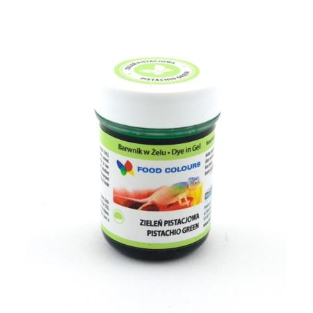 Barwnik spożywczy w żelu polskiej produkcji firmy FOODCOLOURS w kolorze zieleń pistacjowa