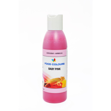 Barwnik spożywczy do aerografu w płynie polskiej produkcji firmy FOODCOLOURS w kolorze róż dziecięcy (baby pink)