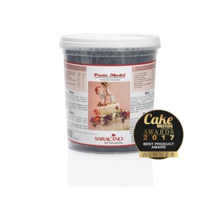 Masa cukrowa do modelowania - Saracino - Czarna - 1 kg