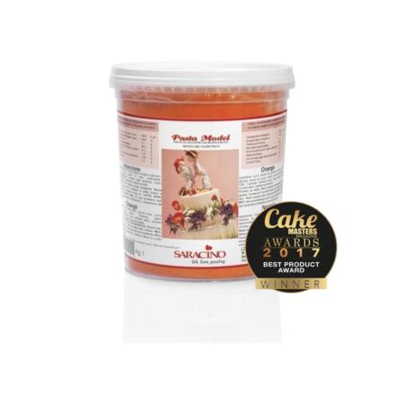 Masa cukrowa do modelowania - Saracino - Pomarańczowa - 1 kg