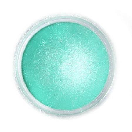 Metaliczny, perłowy barwnik spożywczy w proszku Fractal - Aurora Green, Zieleń Aurora (2 g)