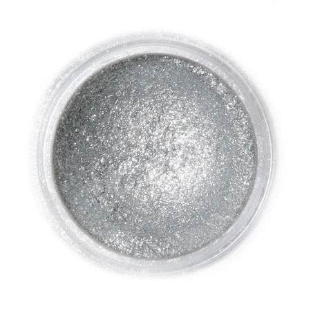 Metaliczny, perłowy barwnik spożywczy w proszku Fractal - Sparkling Dark Silver, Błyszczący Ciemny Srebrny (3,5 g)