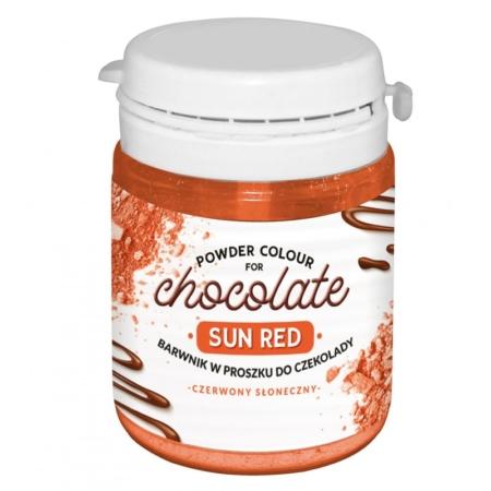 Barwnik w proszku do czekolady Czerwony Słoneczny WS-P-210 - 20 g