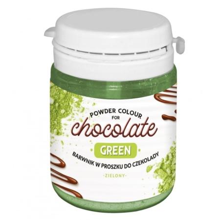 Barwnik w proszku do czekolady Zielony WS-P-225 - 20 g