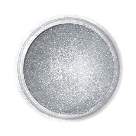 Metaliczny, perłowy barwnik spożywczy w proszku Fractal - Dark Silver, Ciemny Srebrny (2,5 g)