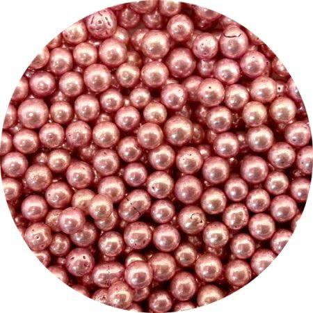 Perłowe kuleczki z połyskiem do dekoracji tortów, babeczek, ciasteczek. Średnica 0,5 - 0,6 cm.