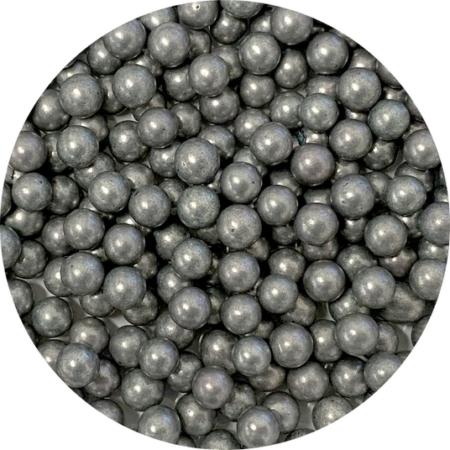 Cukrowe Perły Grafitowe Srebrne Średnie (50g)