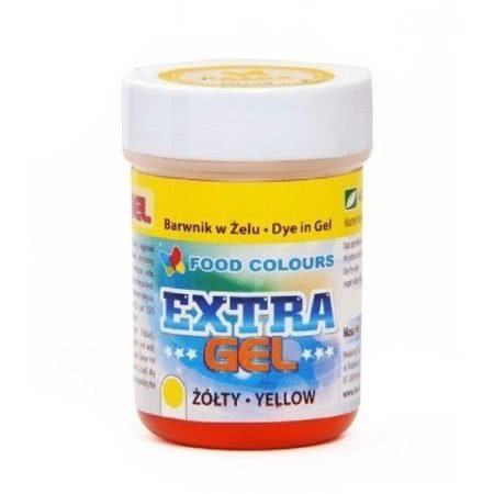 Barwnik spożywczy w żelu ExtraGel polskiej produkcji firmy FOODCOLOURS w kolorze żółtym