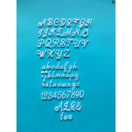 Alfabet na tort/stemple Klasyczny - Miniowe Formy