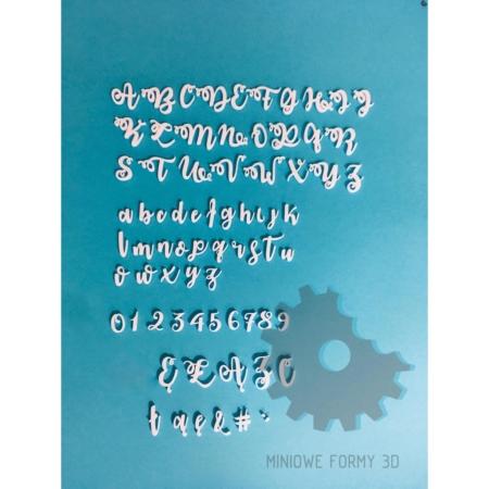 Alfabet na tort/stemple Wywijasy – Miniowe Formy