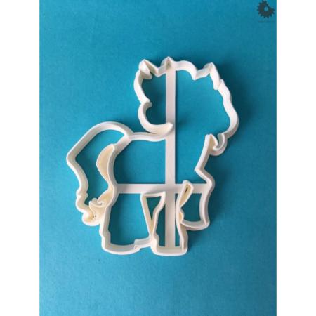 Foremka na tort lub ciasteczka Elegancki Unicorn - Miniowe Formy - 10 x 8,8 cm