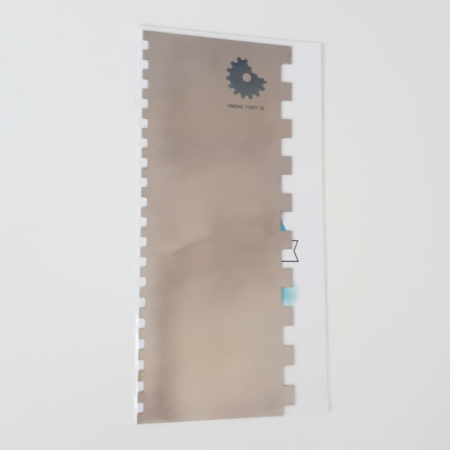 Metalowa Skrobka/Packa - Miniowe Formy - Prostokąt 1 - 19,5 cm