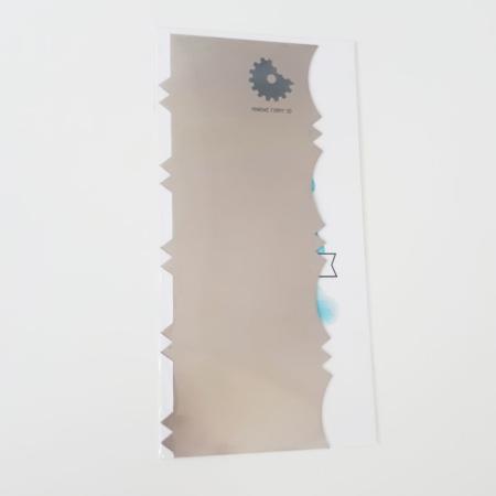 Metalowa Skrobka/Packa - Miniowe Formy - Ząbki 19,5 cm
