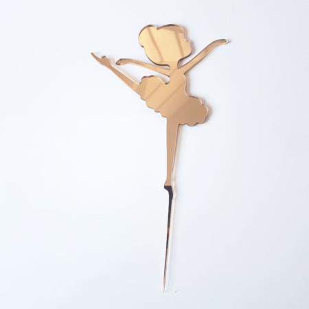 Topper na tort – Miniowe Formy – Dziewczynka Baletnica 1 15 cm Złoty