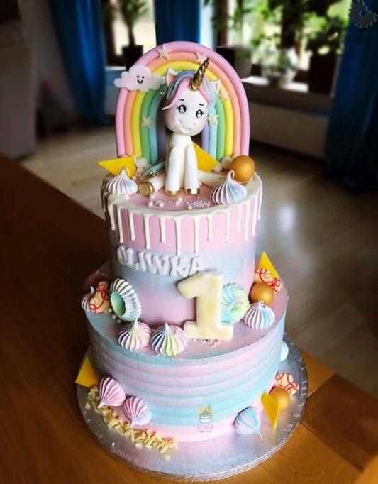 Foremka na tort lub ciasteczka - Baby Cyfra 1 - 10 cm