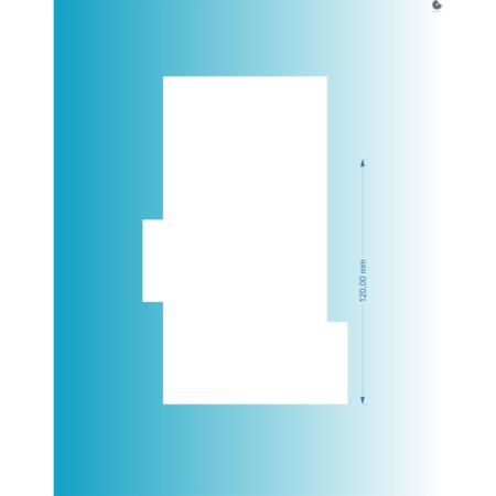 Packa do tortów - Miniowe Formy - Duże Rowki 12 cm