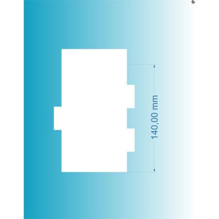 Packa do tortów - Miniowe Formy - Małe Rowki 14 cm