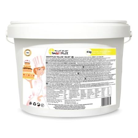 Masa cukrowa/lukier plastyczny Smartflex Velvet - żółta - 4 kg- smak waniliowy