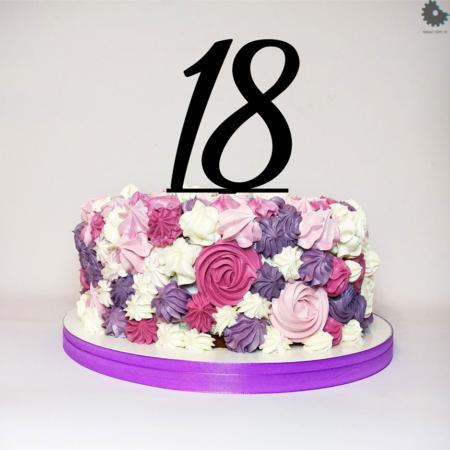 Topper na tort - Miniowe Formy - Osiemnastka czarny