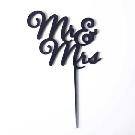 Topper na tort - Miniowe Formy - Mr&Mrs Czarny
