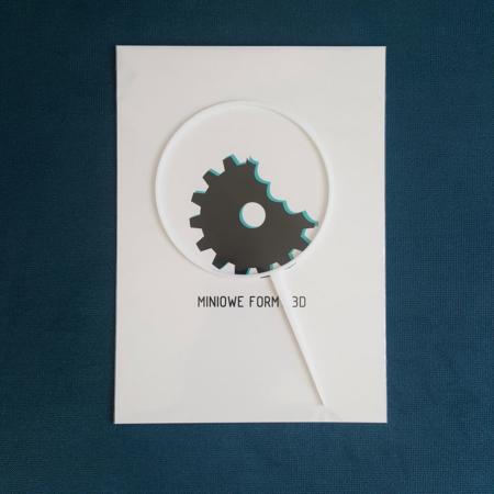 Topper na tort - Miniowe Formy - Obręcz, Wianek 12 cm Biały
