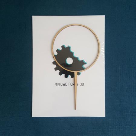 Topper na tort - Miniowe Formy - Obręcz, Wianek 12 cm Drewno
