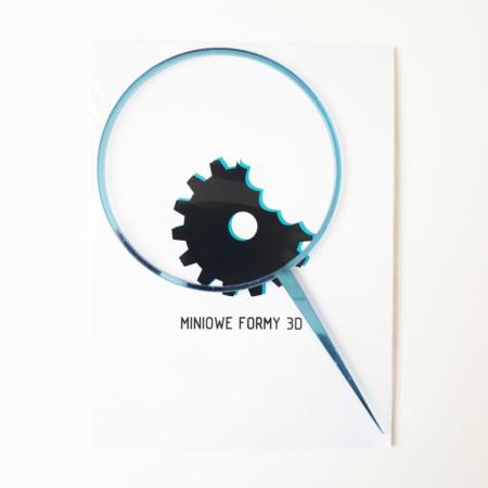 Topper na tort - Miniowe Formy - Obręcz, Wianek 12 cm Niebieski