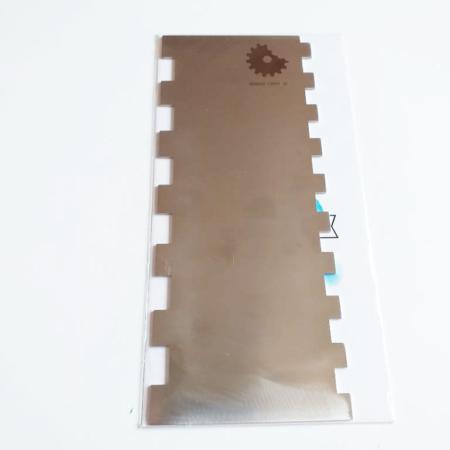 Metalowa Skrobka/Packa - Miniowe Formy - Prostokąt 2 - 19,5 cm