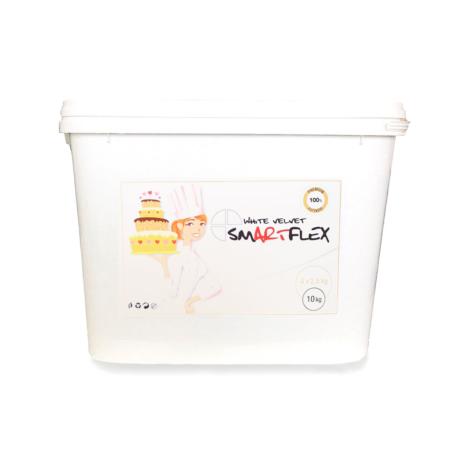 Masa cukrowa/lukier plastyczny Smartflex WHITE Velvet - biała - 10 kg (4x2,5 kg) - smak waniliowy