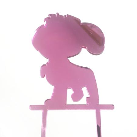 Topper na tort - Miniowe Formy - Psia Postać 1 - Róż Lustro