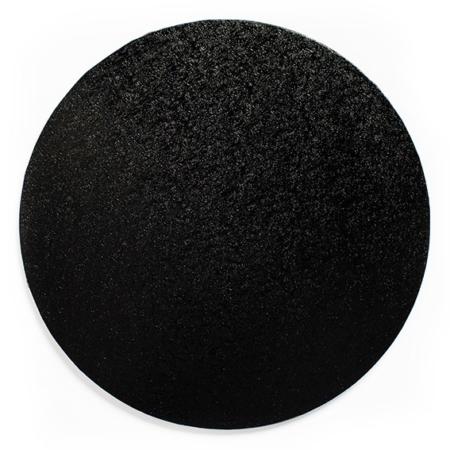 Podkład pod tort okrągły czarny grubość 1,3 cm