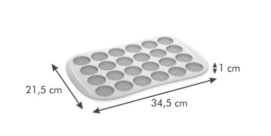 Silikonowa Forma na Mini Gofry/Wafle - Tescoma