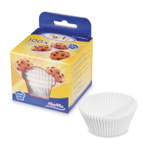 Papilotki do Pralin/Mini Muffinek - Białe - 200 szt.