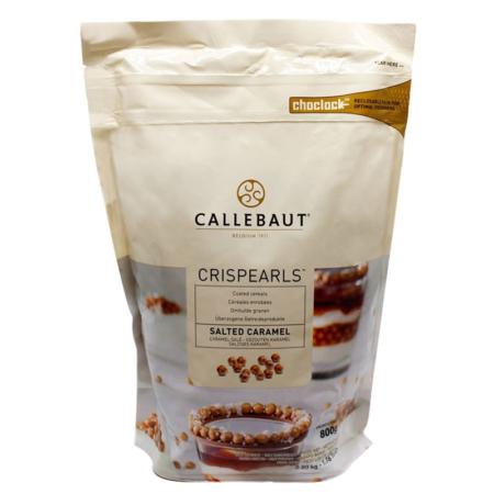 Czekoladowe perełki, posypka Crispearls™ Słony Karmel – Barry Callebaut – 0,8 kg