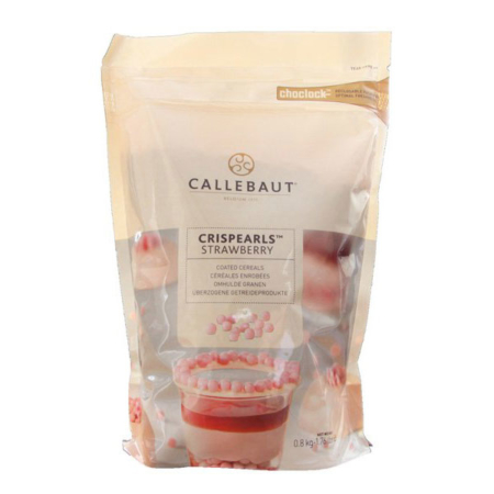 Czekoladowe perełki, posypka Crispearls™ Truskawkowe – Barry Callebaut – 0,8 kg