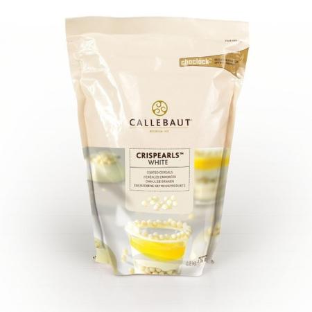 Czekoladowe perełki, posypka Crispearls™ Białe – Barry Callebaut – 0,8 kg