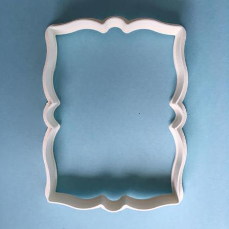 Foremka na tort lub ciasteczka Etykieta, Ramka, Ornament 1 - Miniowe Formy - 10 x 6 cm