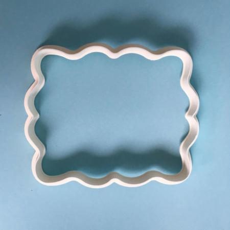 Foremka na tort lub ciasteczka Etykieta, Ramka, Ornament 3 - Miniowe Formy - 10 x 8 cm
