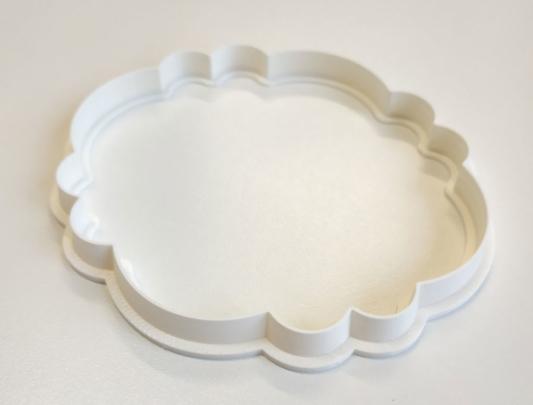 Foremka na tort lub ciasteczka Etykieta, Ramka, Ornament 7 - Miniowe Formy - 10 x 9 cm