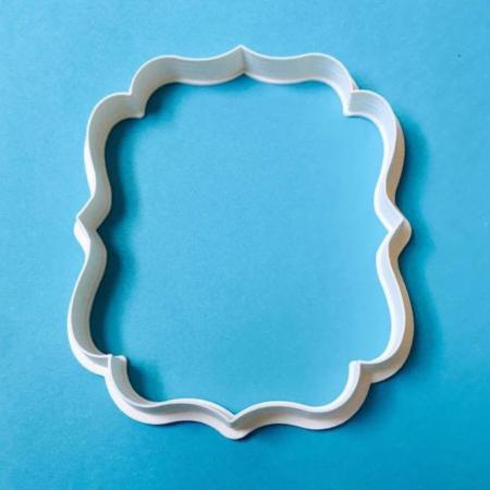 Foremka na tort lub ciasteczka Etykieta, Ramka, Ornament 8 - Miniowe Formy - 10 x 8,1 cm