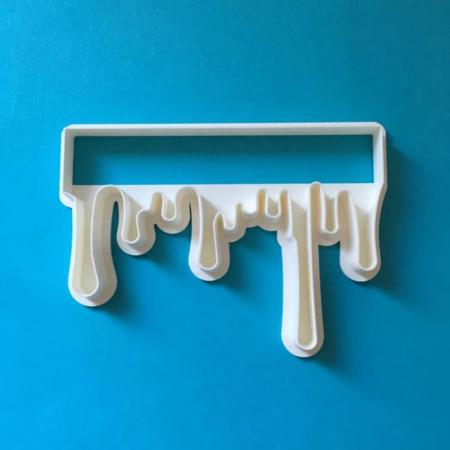 Foremka do wykrawania w masie cukrowej – Idealny Drip - Miniowe Formy