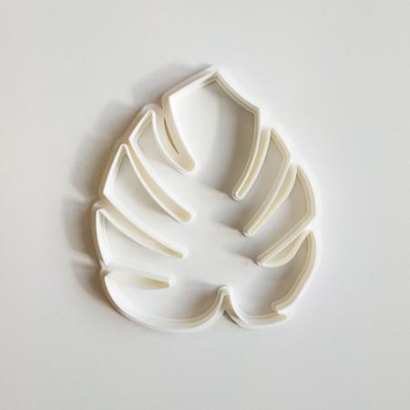 Foremka do wykrawania w masie cukrowej – Monstera 5 x 4,3 cm - Miniowe Formy