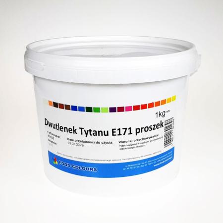 Barwnik w proszku Biały, Dwutlenek Tytanu (Biel Tytanowa) E171 - 1 kg