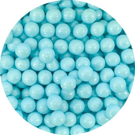 Cukrowe perły błękitne, jasno niebieskie 7 mm (200 g)