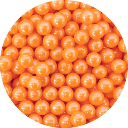 Cukrowe perły pomarańczowe 7 mm (200 g)