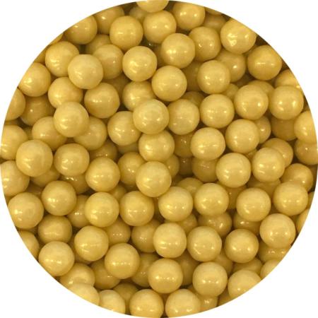 Cukrowe perły żółte/złote/karmelowe 7 mm (200 g)