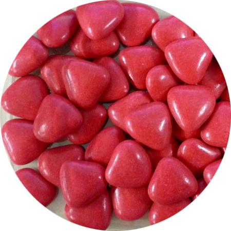 Czekoladowe serca, serduszka czerwone (50 g)
