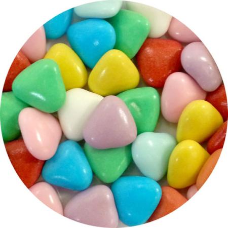 Czekoladowe serca, serduszka kolorowe (50 g)